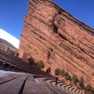 If you run back and forth across the Red Rocks stairs, it equals a 5K!